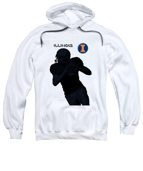 Illinois Football Sweatshirt by David Dehner