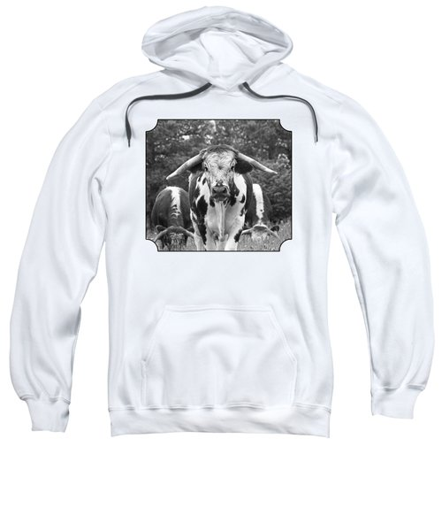 I'm In Charge Here - Black And White Sweatshirt
