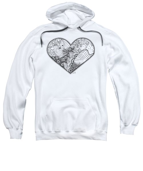 Sweatshirt featuring the drawing In Motion by Ana V Ramirez