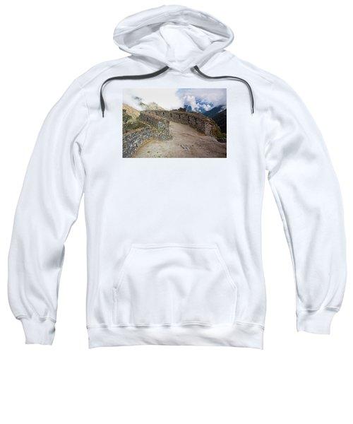 Inca Ruins In Clouds Sweatshirt
