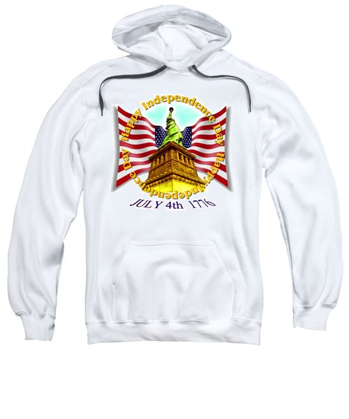Independence Day July 4th 1776 Design Sweatshirt