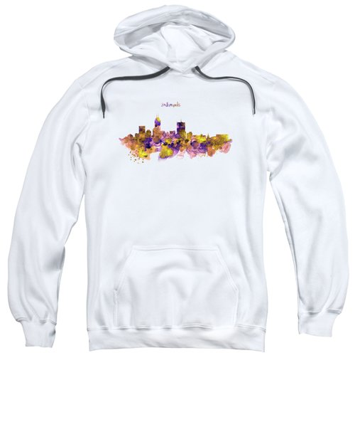 Indianapolis Skyline Silhouette Sweatshirt by Marian Voicu