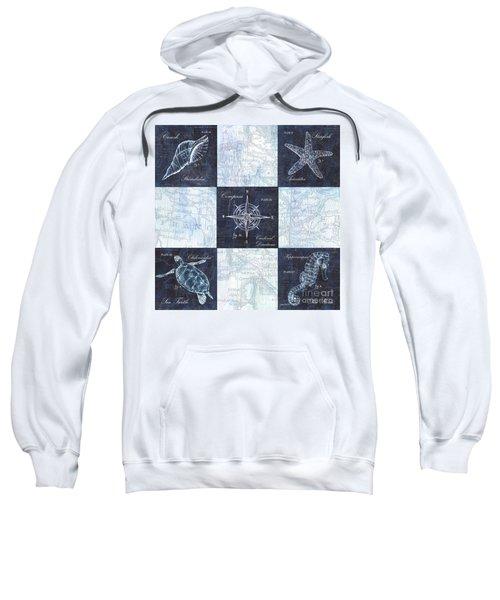 Indigo Nautical Collage Sweatshirt