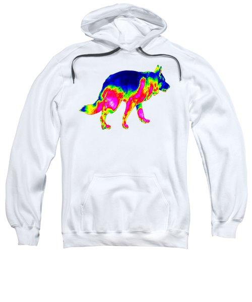 Infrared Walking German Shepherd Sweatshirt