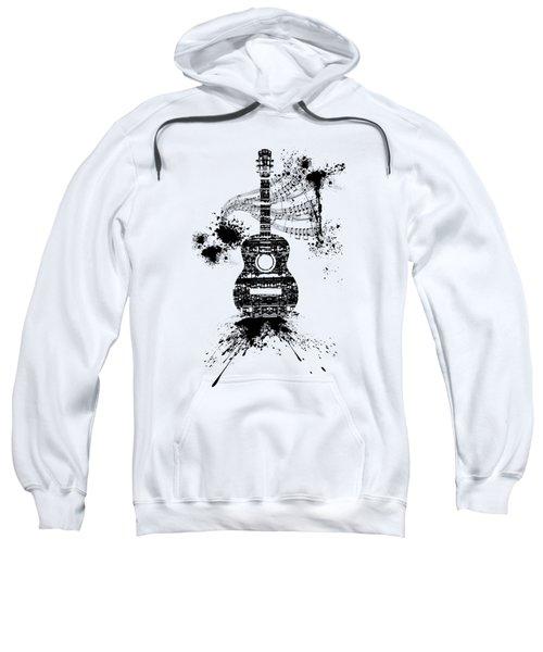 Inked Guitar Transparent Background Sweatshirt