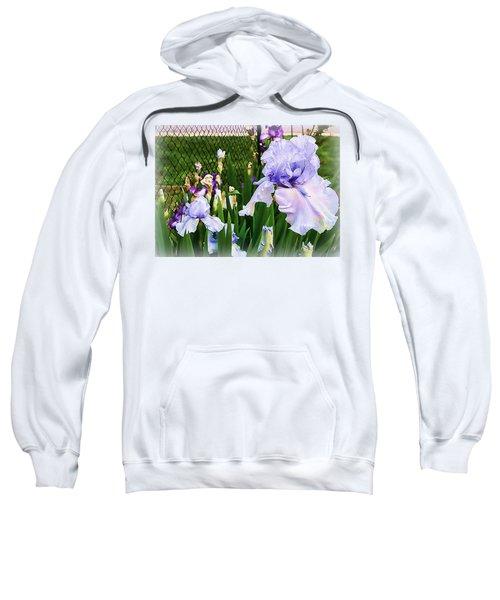 Iris At Fence Sweatshirt