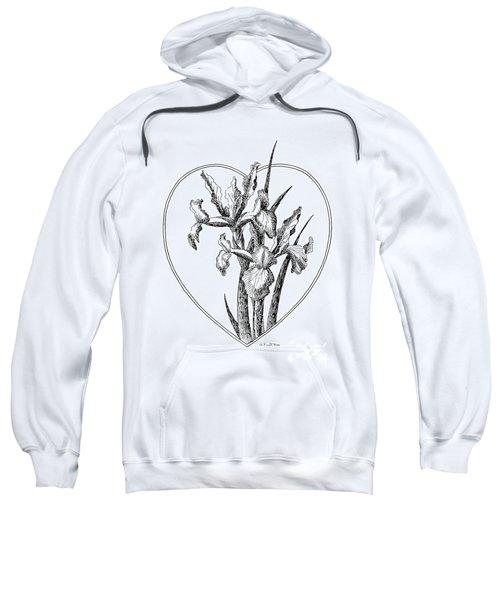 Iris Heart Drawing 3 Sweatshirt