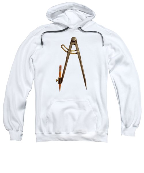 Iron Compass Back Split Color Paper Sweatshirt