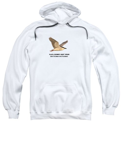 Isolated Black-crowned Night Heron 2017-6 Sweatshirt by Thomas Young