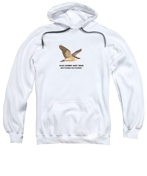 Isolated Black-crowned Night Heron 2017-6 Sweatshirt