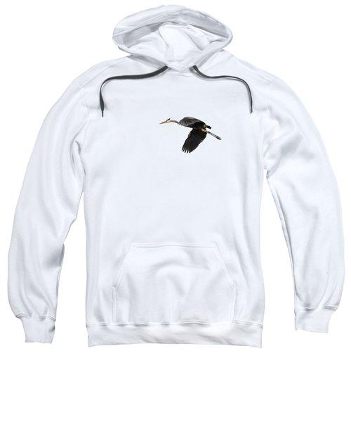 Isolated Great Blue Heron 2015-1 Sweatshirt
