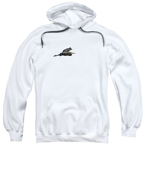 Isolated Great Blue Heron 2015-2 Sweatshirt by Thomas Young