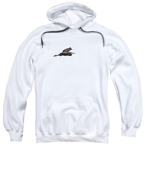 Isolated Great Blue Heron 2015-2 Sweatshirt
