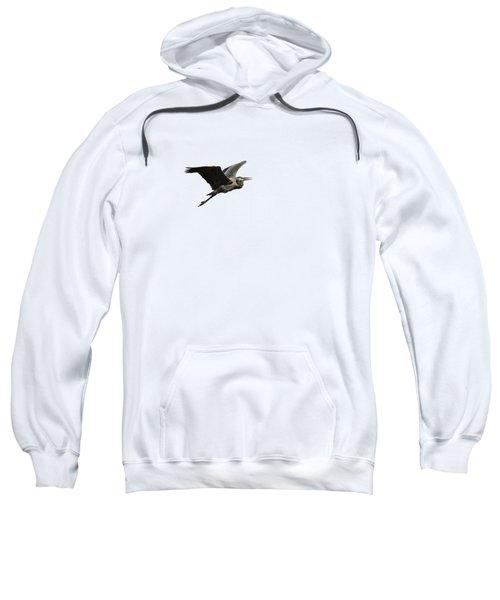 Isolated Great Blue Heron 2015-3 Sweatshirt