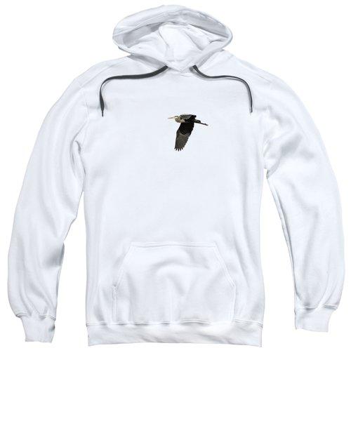 Isolated Great Blue Heron 2015-4 Sweatshirt