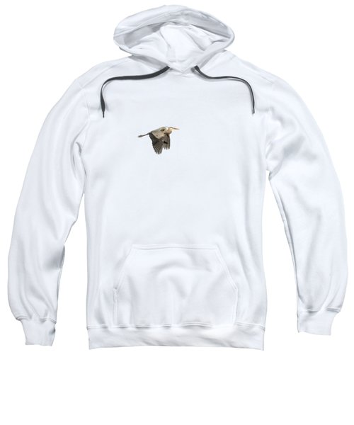 Isolated Great Blue Heron 2015-5 Sweatshirt