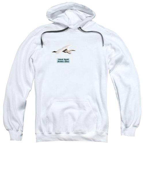Isolated Great Egret 2018-1 Sweatshirt