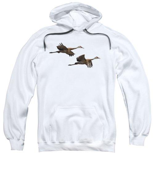 Isolated Sandhill Cranes 2016-1 Sweatshirt