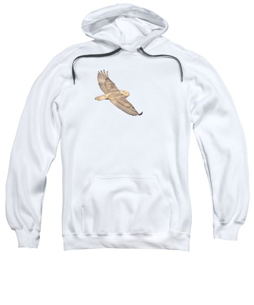 Isolated Snowy Owl 2018-1 Sweatshirt