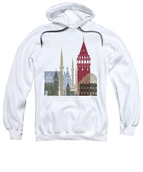 Istanbul Skyline Poster Sweatshirt by Pablo Romero