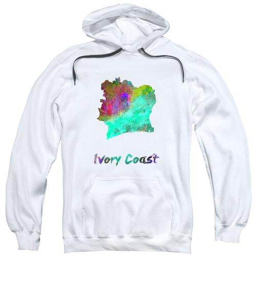 Ivory Coast In Watercolor Sweatshirt