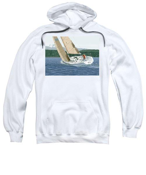 J-109 Sailboat Sail Boat Sailing 109 Sweatshirt