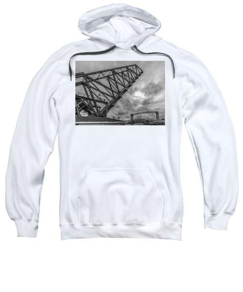 Jackknife Bridge To The Clouds B And W Sweatshirt