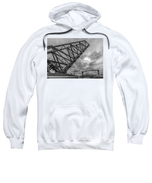 Jackknife Bridge To The Clouds B And W Sweatshirt