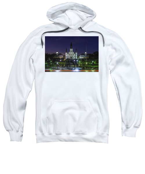 Jackson Square And St. Louis Cathedral At Dawn, New Orleans, Louisiana Sweatshirt