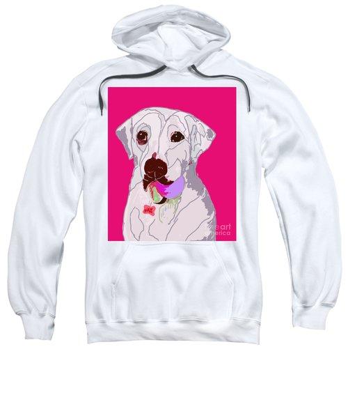 Jax With Ball In Pink Sweatshirt