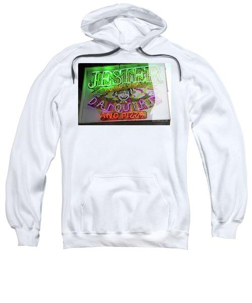Jester Mardi Gras Sign Sweatshirt