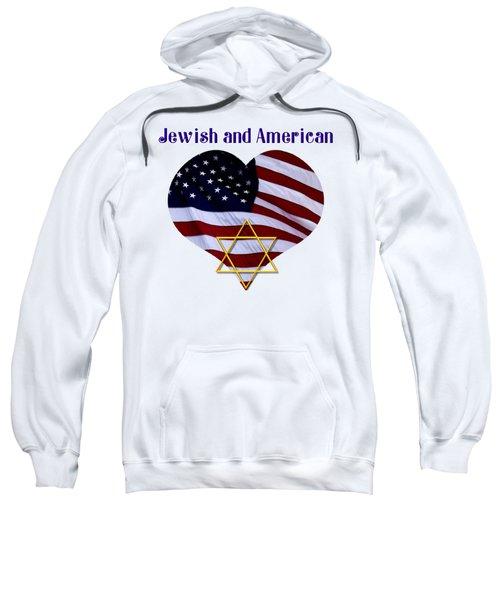 Jewish And American Flag With Star Of David Sweatshirt
