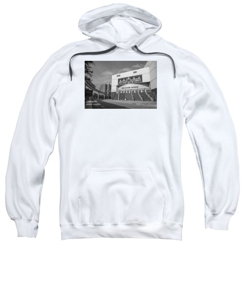 Joe Louis Arena Black And White  Sweatshirt