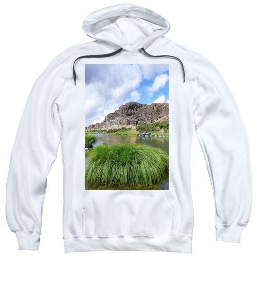 John Day River Landscape In Summer Portrait Sweatshirt