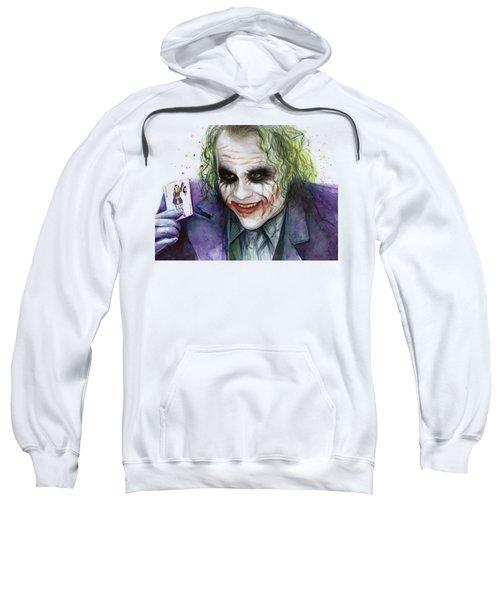 Joker Watercolor Portrait Sweatshirt