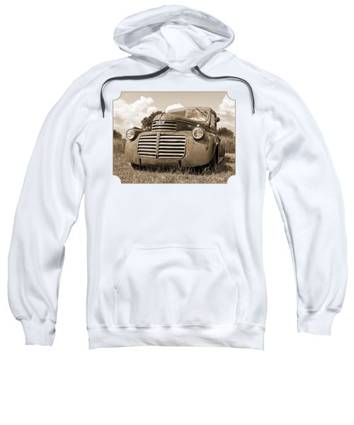 Just Resting - Vintage Gmc Truck In Sepia Sweatshirt