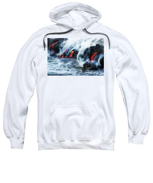 Kamokuna Lava Ocean Entry, 2016 Sweatshirt