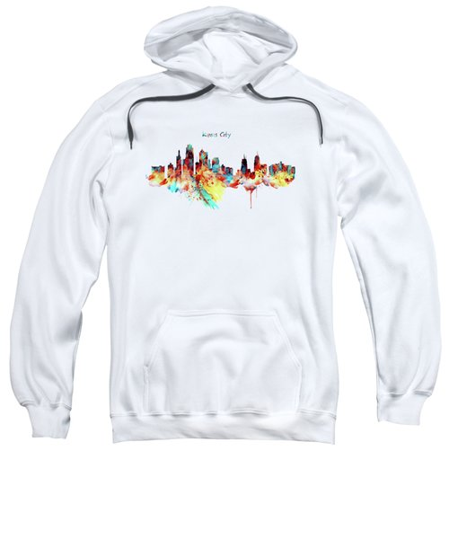 Kansas City Skyline Silhouette Sweatshirt by Marian Voicu