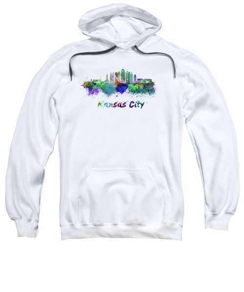 Kansas City V2  Skyline In Watercolor Sweatshirt