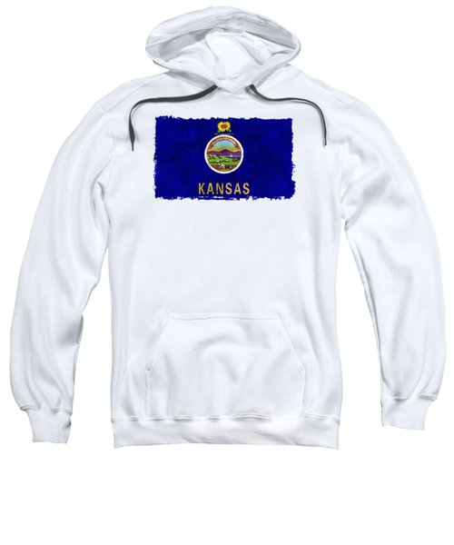 Kansas Flag Sweatshirt by World Art Prints And Designs