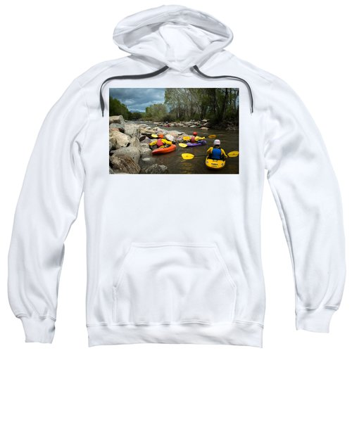 Sweatshirt featuring the photograph Kayaking Class by Stephen Holst