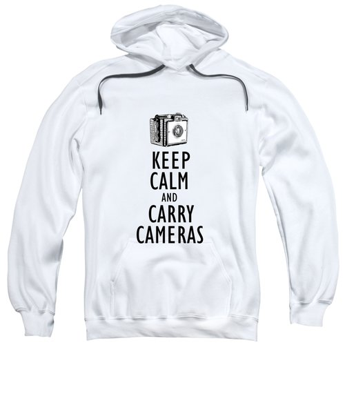 Keep Calm And Carry Cameras Phone Case Sweatshirt