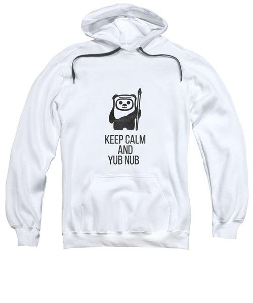 Sweatshirt featuring the drawing Keep Calm And Yub Nub by Edward Fielding