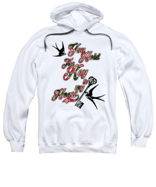Key To My Heart Dictionary Art Sweatshirt