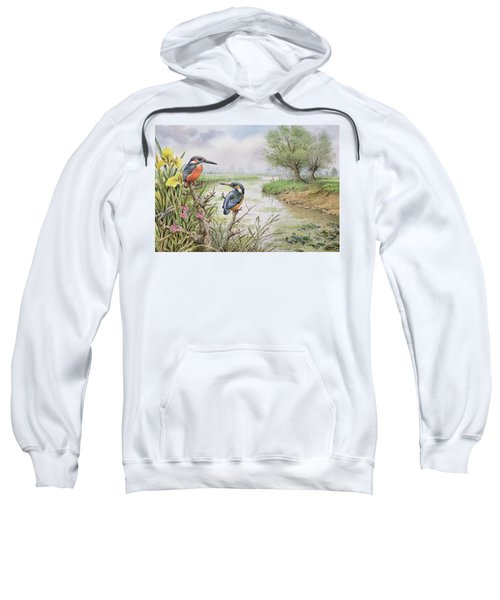 Kingfishers On The Riverbank Sweatshirt