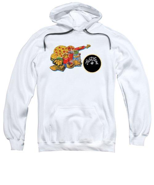 Kitchen Illustration Of Menu Of Fast Food  Sweatshirt