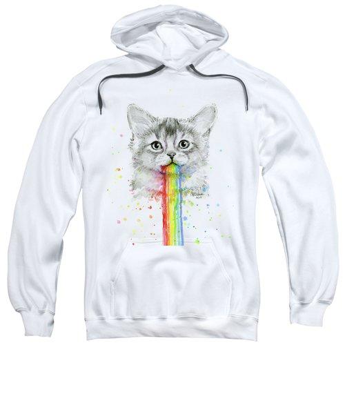 Kitten Puking Rainbows Sweatshirt