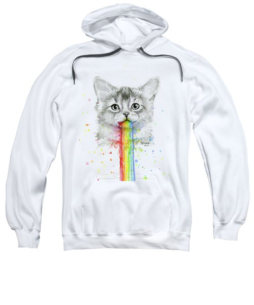 Kitten Puking Rainbows Sweatshirt