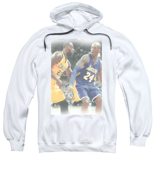 Kobe Bryant Lebron James 2 Sweatshirt by Joe Hamilton