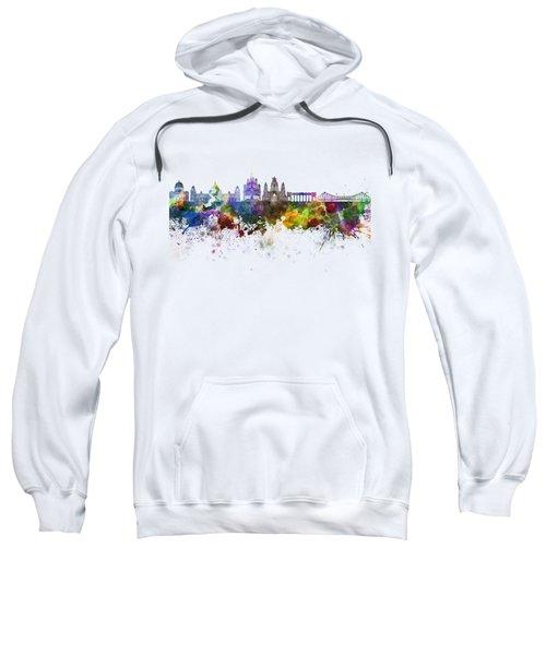 Kolkata Skyline In Watercolor Background Sweatshirt